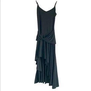 Asymmetrical Little Black Dress - Ariella